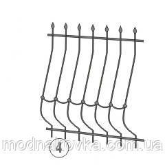 Металлическая решетка на окно кованая 4