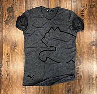 Мужская футболка серая  Puma (реплика)