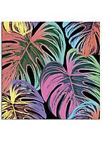 Фотокартина на холсте Тропические листья, 25*25 см