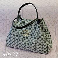 Женская брендовая сумка Gucci Гуччи серая, фото 1