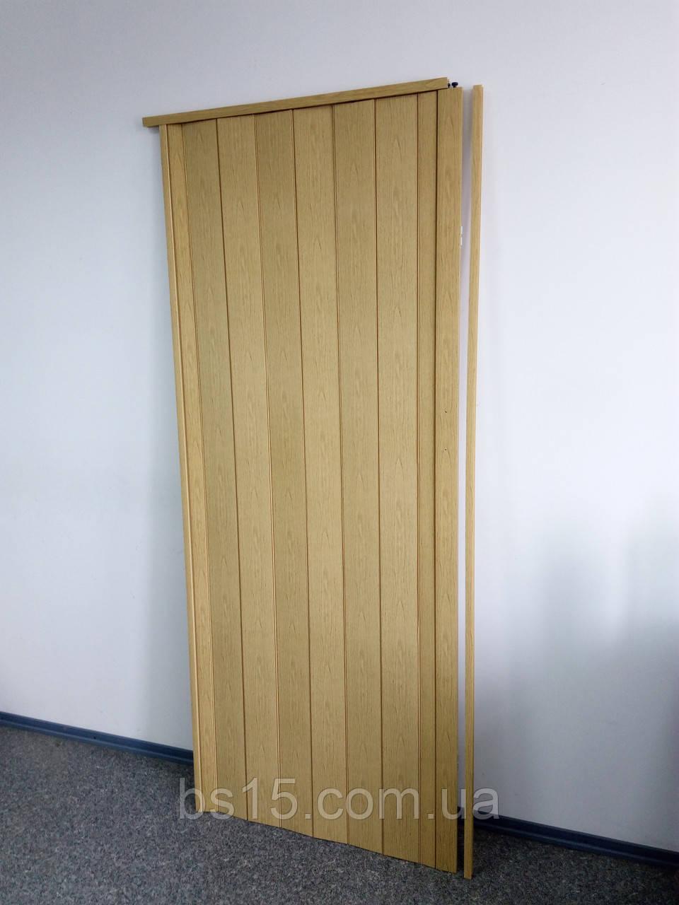 Двери межкомнатные раздвижные дуб светлый Build System 810х2030х6мм доставка по Украине - Build System в Днепре