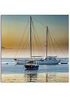 Фотокартина на холсте Яхта, 30*30 см