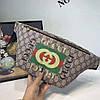 Бананка сумка на пояс Gucci Гуччи коричневая