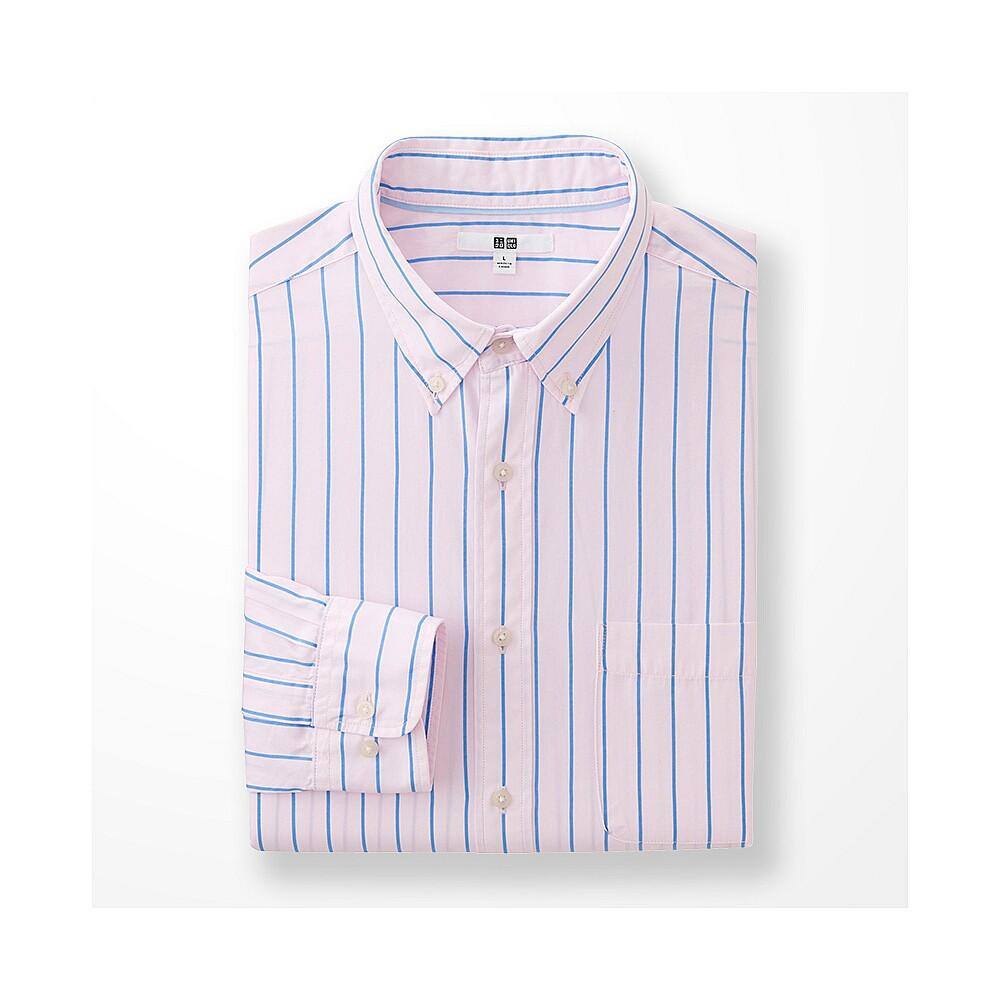 Рубашка Uniqlo Men's Extra Fine Cotton Broadcloth Printed PINK