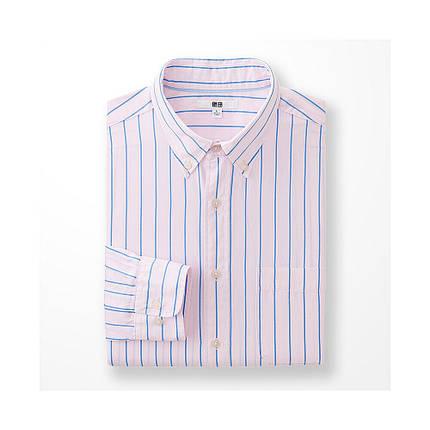 Рубашка Uniqlo Men's Extra Fine Cotton Broadcloth Printed PINK, фото 2
