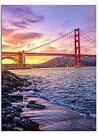 Фотокартина на холсте Мост Золотые Ворота, 30*40 см