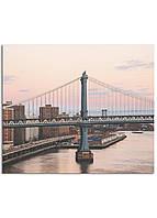 Фотокартина на холсте Закат на мосту, 30*40 см