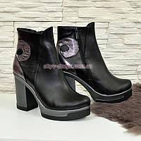Женские зимние ботинки из натуральной кожи, на плоской подошве, фото 1