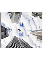 Фотокартина на холсте Самолет в небе, 30*40 см