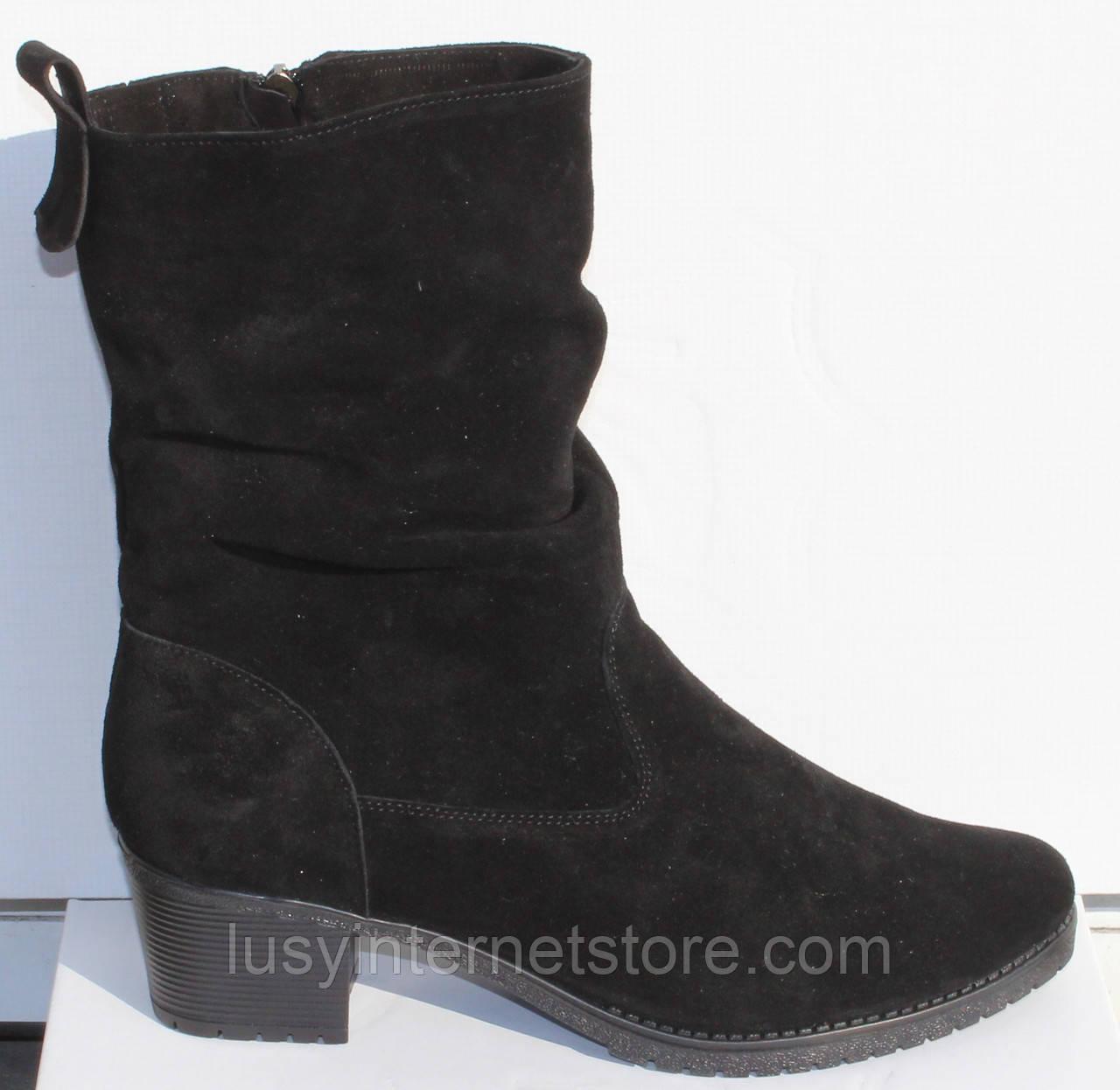 Замшевые женские полусапожки большого размера, замшевая обувь больших размеров от производителя мод ВБ1500