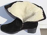 Замшевые женские полусапожки большого размера, замшевая обувь больших размеров от производителя мод ВБ1500, фото 4