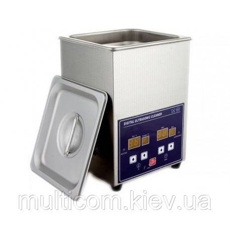 13-06-022. Цифровая ультразвуковая ванна 70W, объем 2,0л, корпус металл, PS-10A