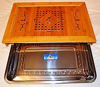 Чабань бамбук с металлическим подносом