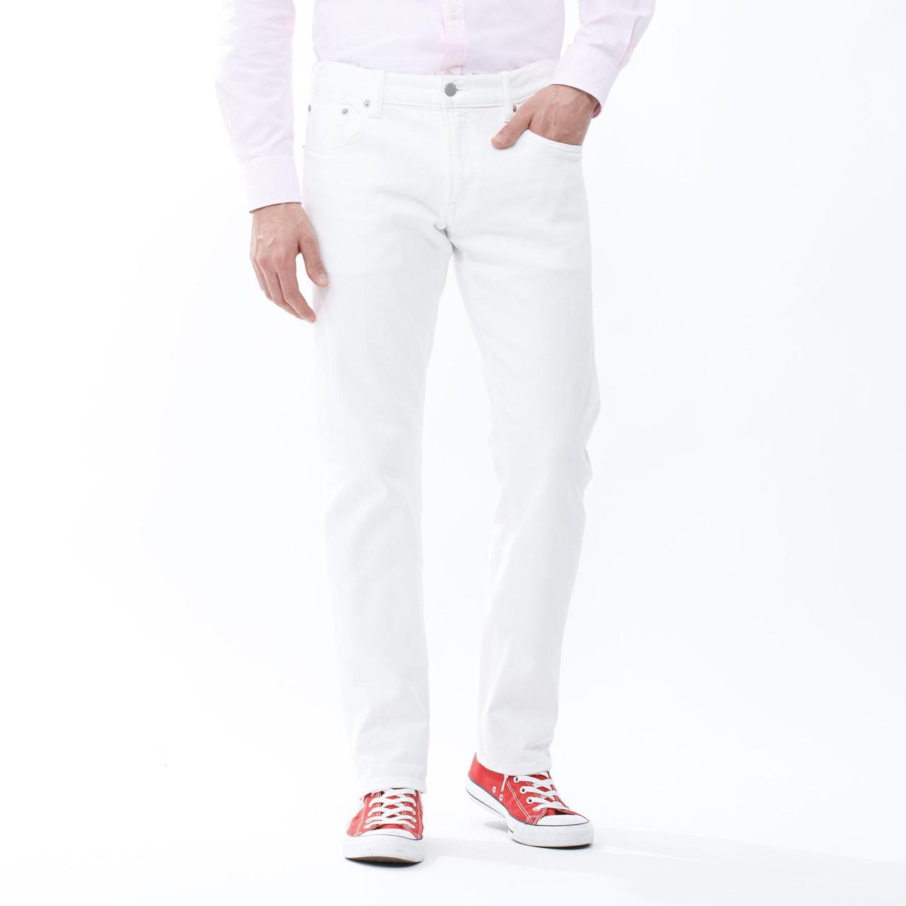 Джинсы Uniqlo Stretch Slim Fit Straight WHITE