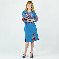 Платье вышиванка - Мальва с васильками, фото 1