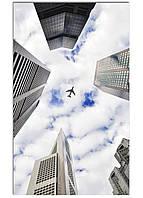 Фотокартина на холсте Самолет в небе, 30*50 см
