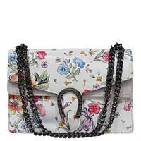f03761b4fb21 Женская сумка Felicita 478 из натуральной кожи итальянская фабричная принт  в цветы на одно отделение