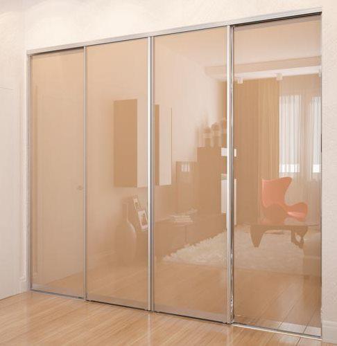 Раздвижная система | Межкомнатные перегородки | Дверь стекло лакобель