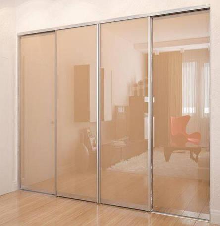 Раздвижная система | Межкомнатные перегородки | Дверь стекло лакобель, фото 2
