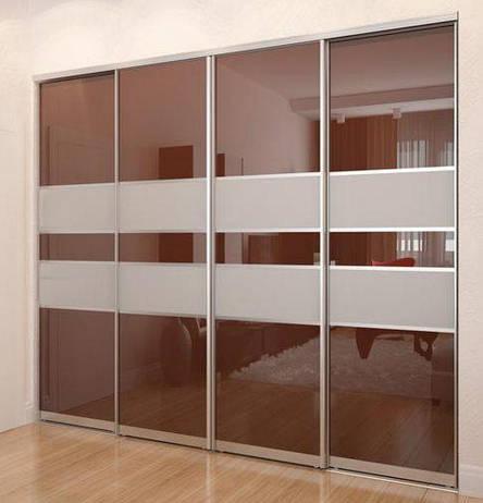 Раздвижная система | Межкомнатные перегородки | Дверь с комбинированным наполнением, фото 2