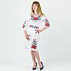 Платье вышиванка - Мальва с васильками