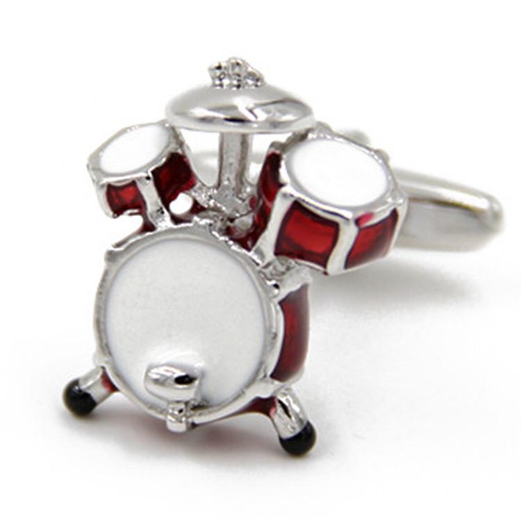Запонки Барабан, Красные барабаны - для музыкантов и любителей шумной музыки