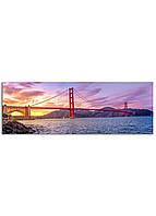 Фотокартина на холсте Мост Золотые Ворота, 33*95 см