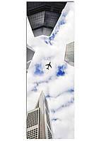 Фотокартина на холсте Самолет в небе, 33*95 см