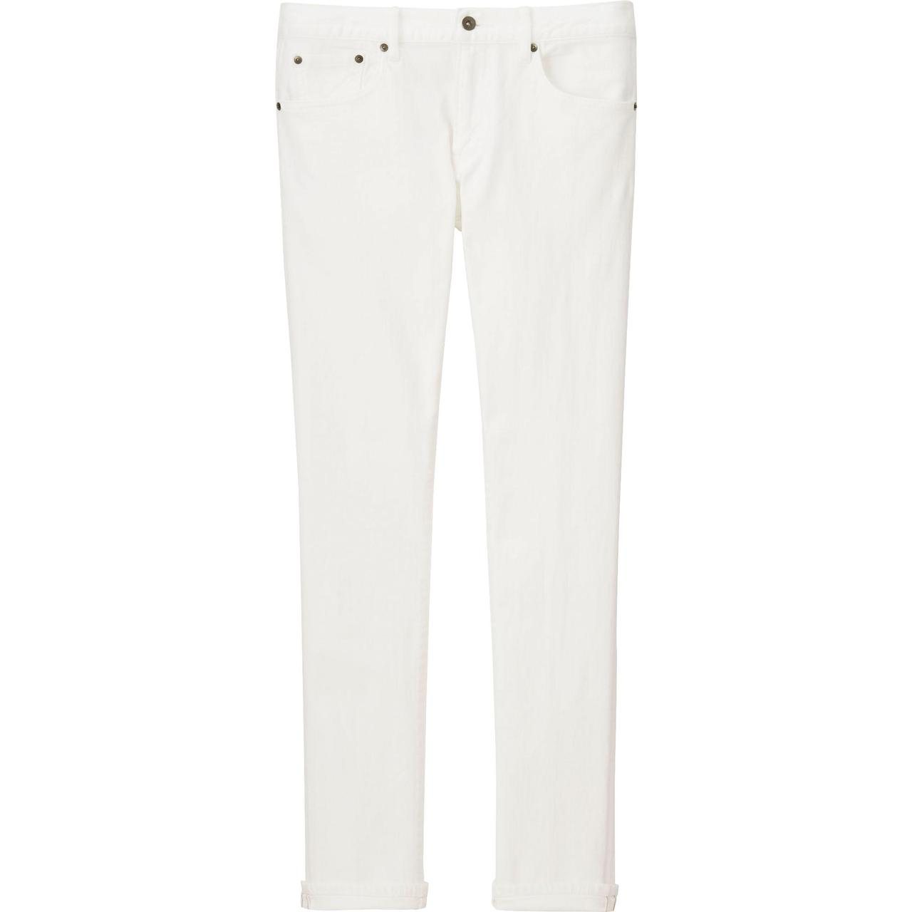 Джинсы Uniqlo Slim Fit Selvedge WHITE