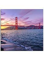 Фотокартина на холсте Мост Золотые Ворота, 40*40 см