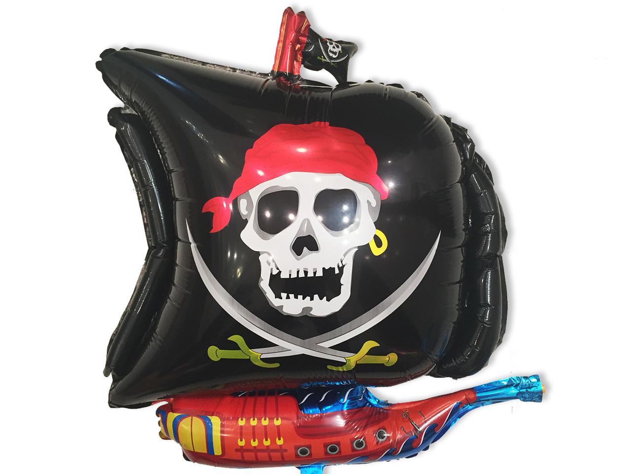 """Фольгований куля """"Піратський корабель"""" 57 см"""