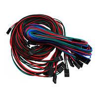 14 кабелей 2/3/4pin мама-мама 70см для 3D-принтера | код: 10.02204