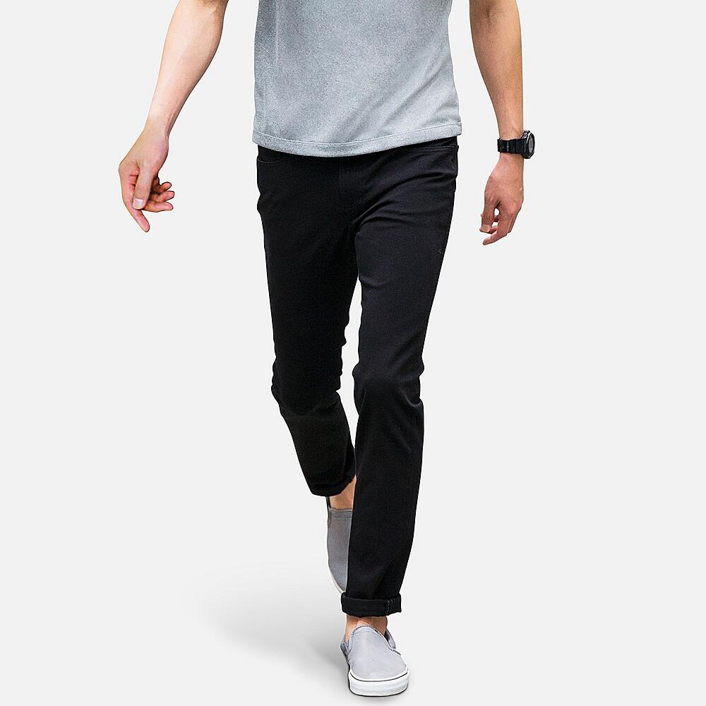Джинсы Uniqlo Skinny Fit Tapered Color BLACK
