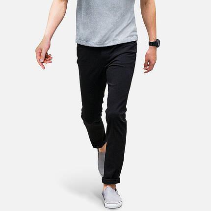 Джинсы Uniqlo Skinny Fit Tapered Color BLACK, фото 2