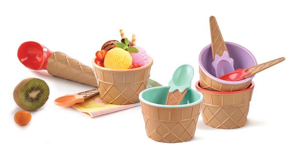 Набор для мороженого Qlux MIX 9 предметов  (L-00611)