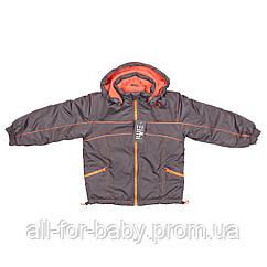 Детская куртка Elmi на флисе 104см шоколадная