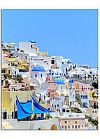 Фотокартина на холсте Тира. Греция, 40*50 см