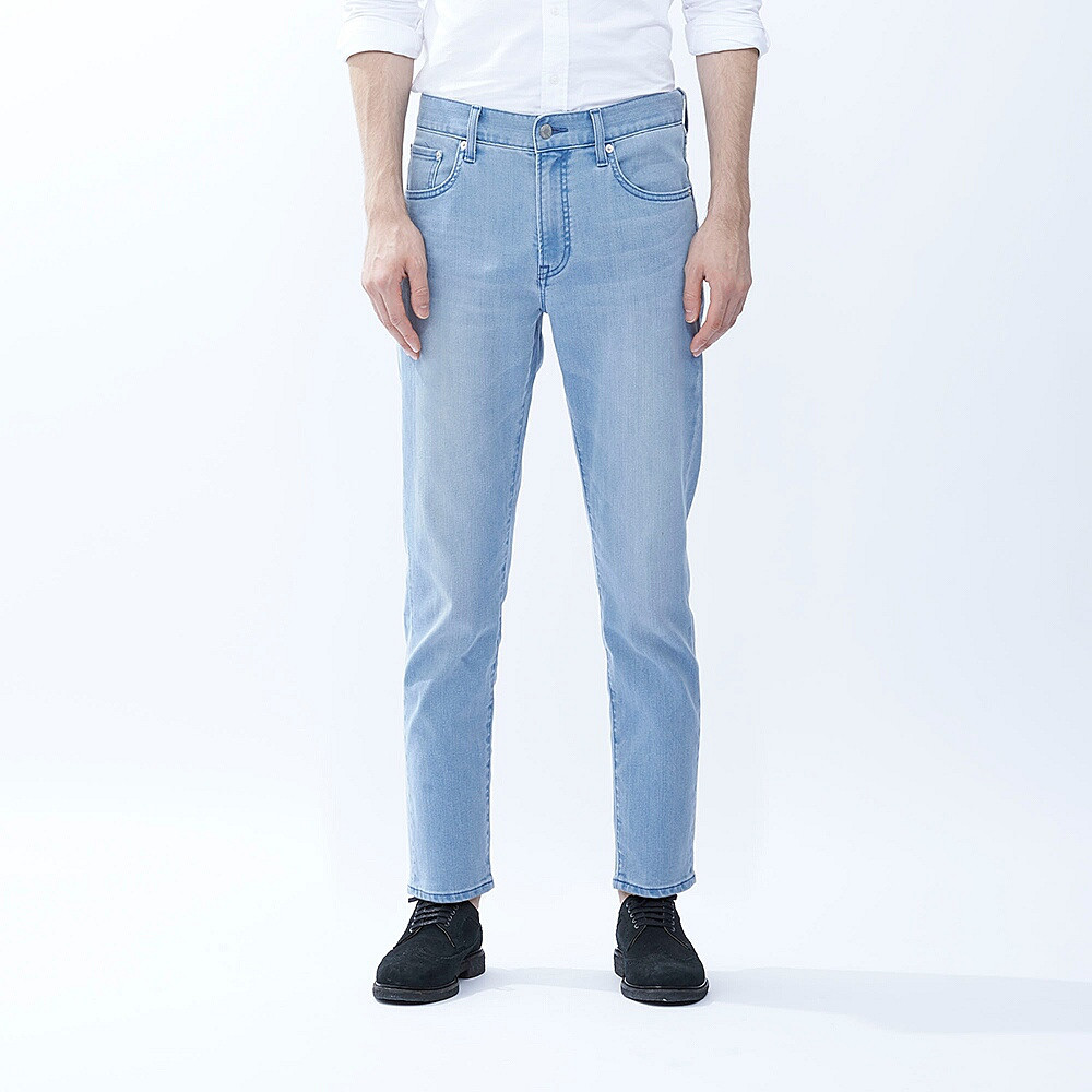 Джинсы Uniqlo Miracle Air Stretch Skinny Fit Tapered BLUE