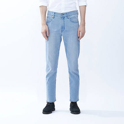 Джинсы Uniqlo Miracle Air Stretch Skinny Fit Tapered BLUE, фото 2
