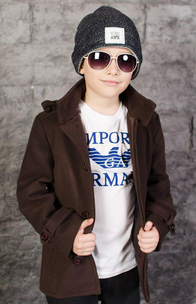 Пальто стильное детское, весна-осень