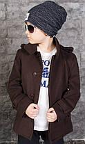 Пальто стильное детское, весна-осень, фото 2