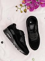 Черные кроссовки на шнуровке 25968, фото 1