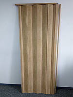 Двері розсувні міжкімнатні 803 бук глухі гармошка 810х2030х6 мм, фото 1