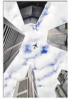 Фотокартина на холсте Самолет в небе, 40*60 см