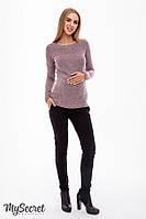 Штани з начосом для вагітних TINA WARM TR-48.141 чорні, фото 1
