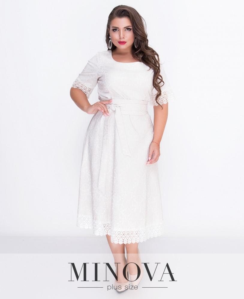 Жаккардовое приталенное платье 48-54р