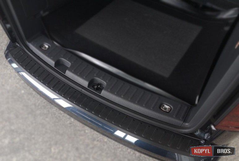 Volkswagen Caddy 2015+ накладка защитная на задний бампер полиуретановая