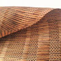 "Тканина натуральна ""Мадагаскар"" коричнева"