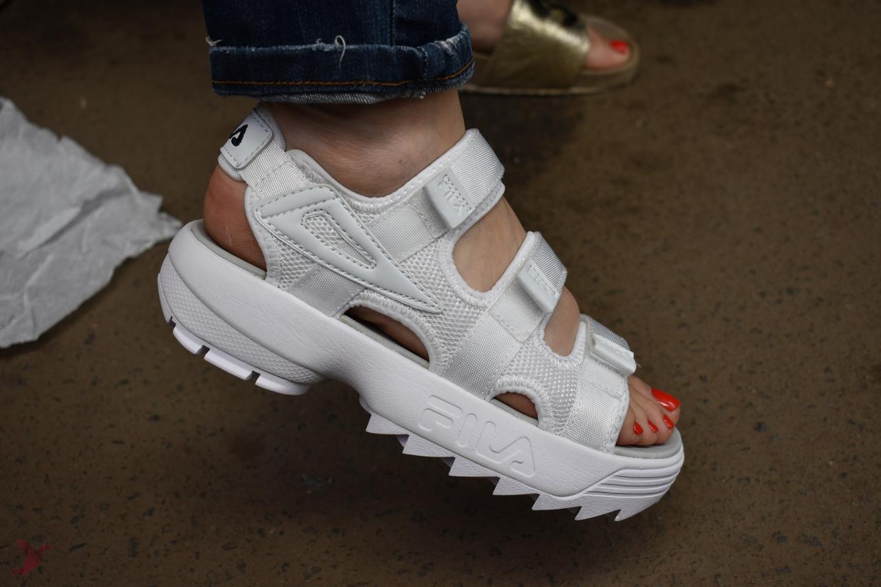 97edf3a385df Сандалии FILA Disruptor Sandals белые(реплика) - Интернет-магазин вещей  Stelar в Днепре