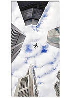 Фотокартина на холсте Самолет в небе, 50*100 см